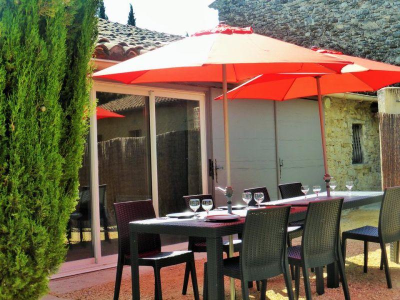 View from terrace Location House 110810 Vaison la Romaine