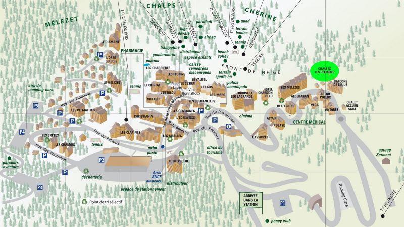 Property map Location Chalet 111824 Risoul 1850