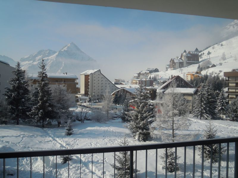 View from the balcony Location Studio apartment 107074 Les 2 Alpes
