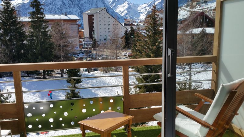 Balcony Location Studio apartment 107074 Les 2 Alpes