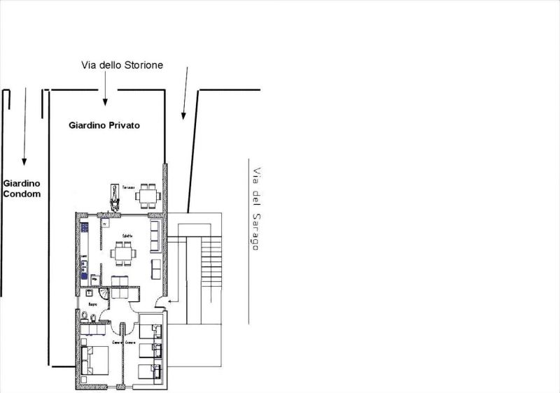 Property map Location Apartment 113139 Principina a Mare