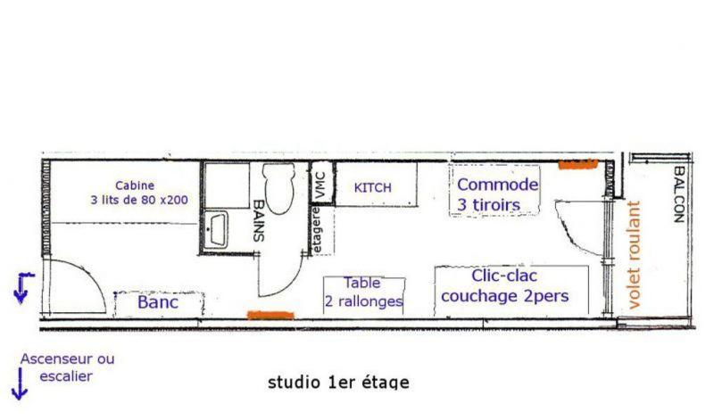 Property map Location Studio apartment 116682 Les Menuires