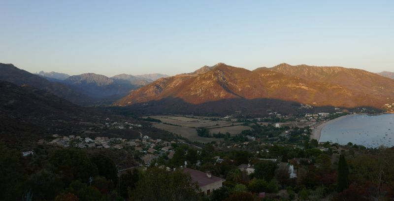 View from terrace Location Villa 114958 Sagone
