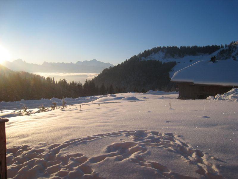 View from terrace Location Chalet 2355 Praz de Lys Sommand