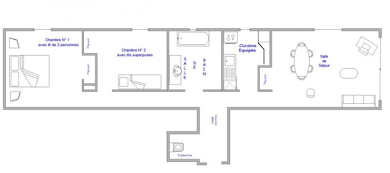 Property map Location Apartment 64 Alpe d'Huez