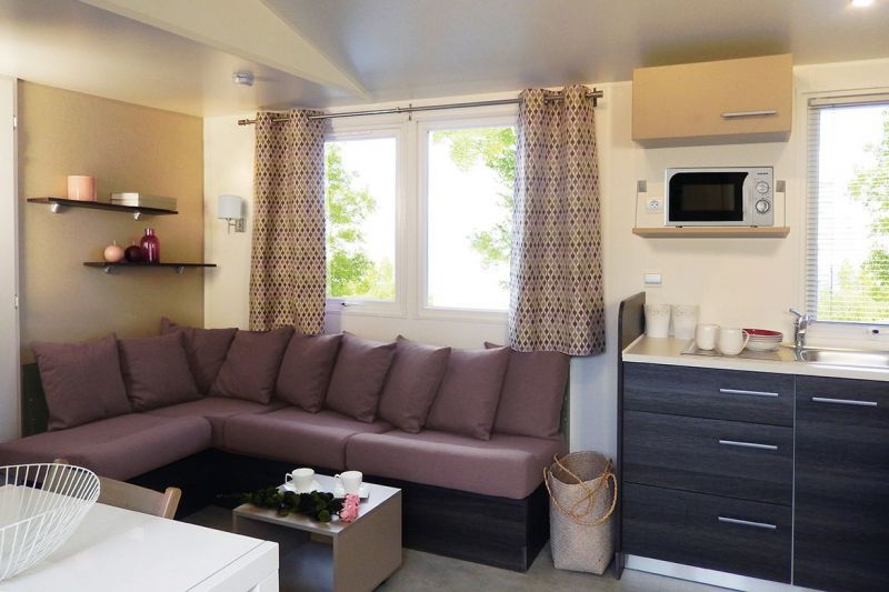 Sitting room Location Mobile home 114101 Saint-Julien-en-Born