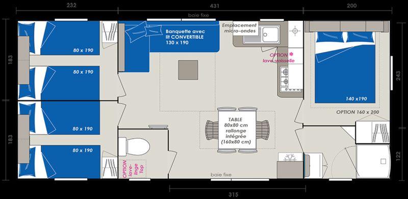 Property map Location Mobile home 114101 Saint-Julien-en-Born