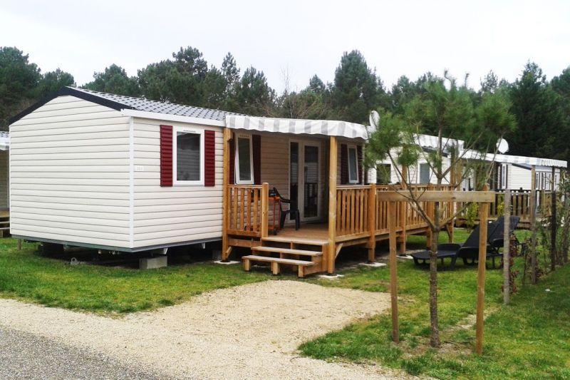 View from terrace Location Mobile home 114101 Saint-Julien-en-Born