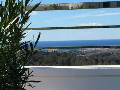 View from terrace Location Villa 102368 Benidorm