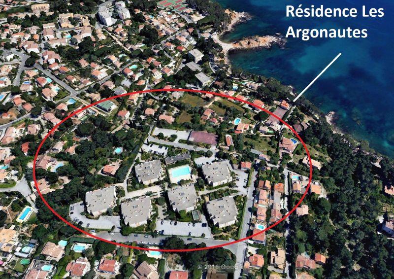 Area map Location Studio apartment 105645 Bandol