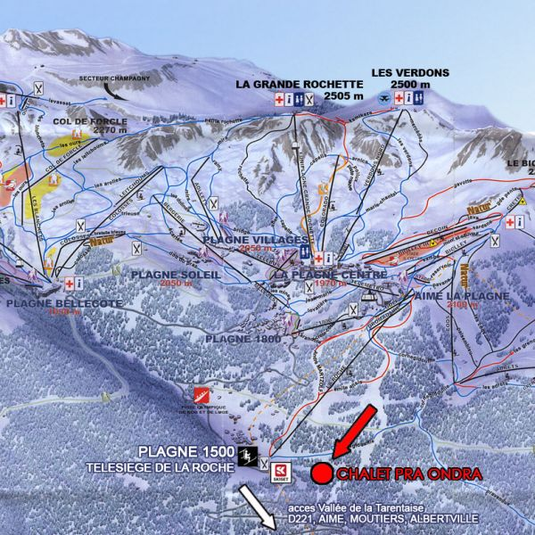 Area map Location Chalet 89733 La Plagne