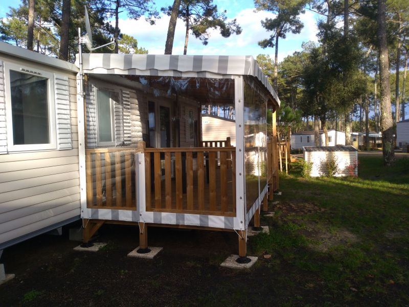 Terrace Location Mobile home 117730 Saint-Julien-en-Born