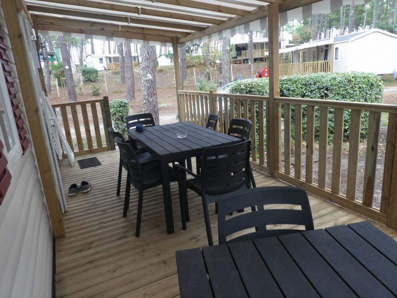 Terrace Location Mobile home 117792 Saint-Julien-en-Born