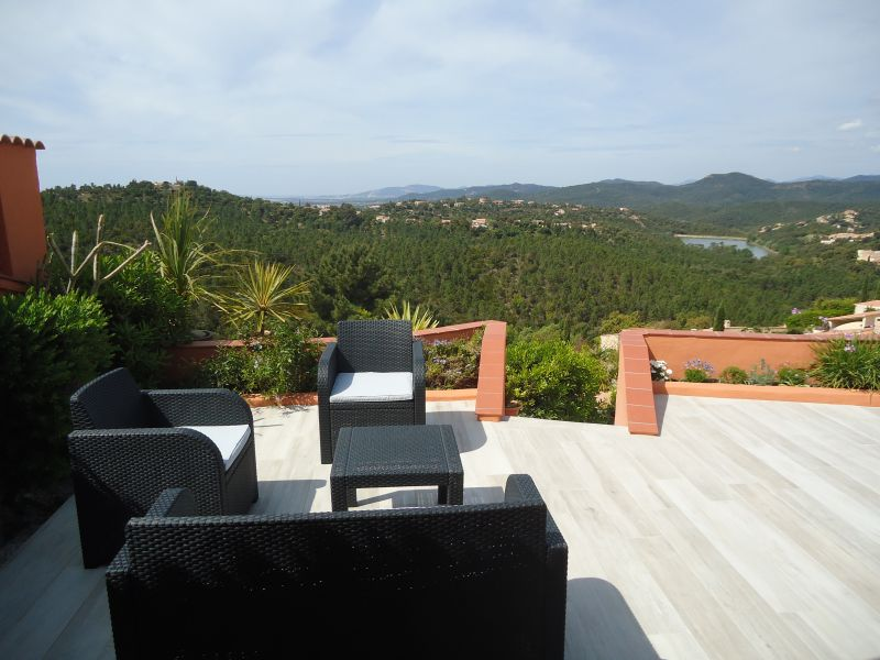 View from terrace Location House 100590 La Londe les Maures