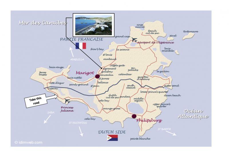 Area map Location Studio apartment 108428 Marigot