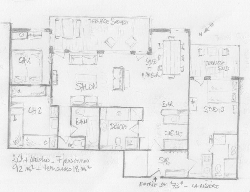 Property map Location Apartment 111312 Valmorel