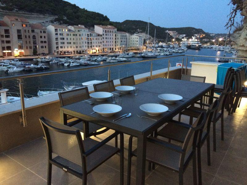 View from terrace Location Apartment 115112 Bonifacio