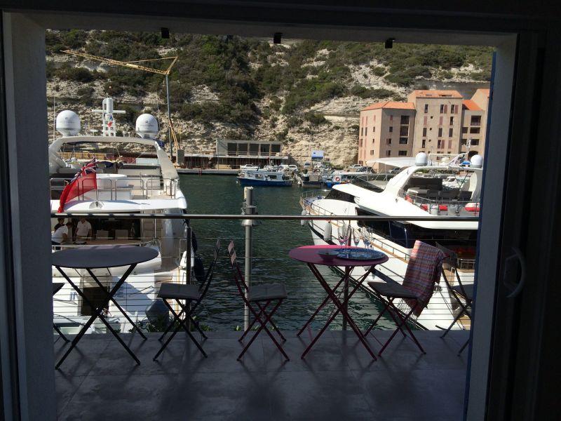 View from the balcony Location Apartment 115112 Bonifacio