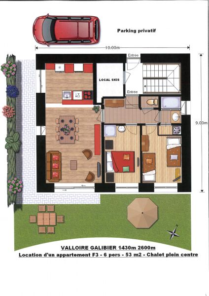 Property map Location Apartment 88191 Valloire