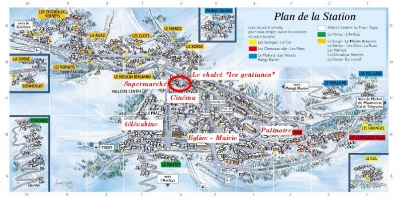 Area map Location Apartment 88191 Valloire