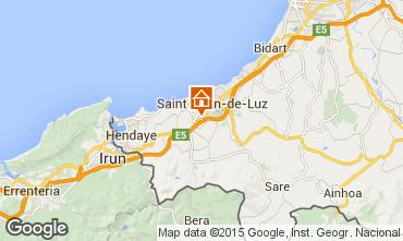 Map Saint Jean de Luz Apartment 75179
