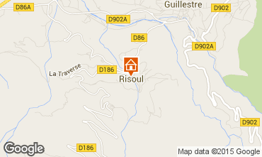 Map Risoul 1850 Studio apartment 80412