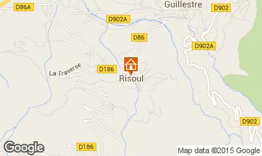 Map Risoul 1850 Studio apartment 80412