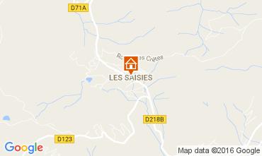 Map Les Saisies Apartment 107297