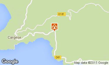 Map Cargèse Apartment 89273