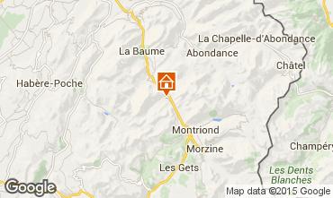 Map Saint Jean d'Aulps- La Grande Terche Apartment 85484