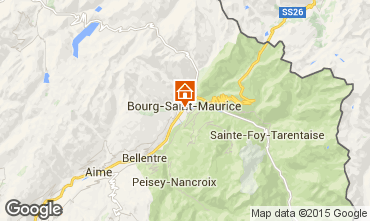 Map Bourg saint Maurice Apartment 96964