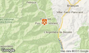 Map Puy Saint Vincent Apartment 56195