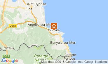 Map Collioure Apartment 108180