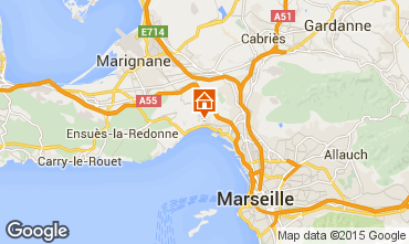 Map Marseille Self-catering property 5959