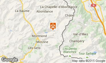 Map Morzine Apartment 77690