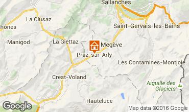 Map Praz sur Arly Apartment 102552