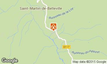 Map Saint Martin de Belleville Chalet 82356