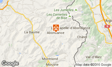 Map Abondance Chalet 74597