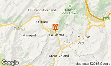 Map La Giettaz en Aravis Apartment 68773