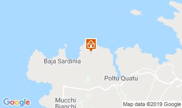 Map Baja Sardinia Apartment 117150