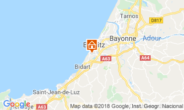 Map Biarritz Apartment 98622