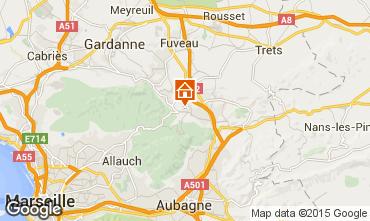 Map Aix en Provence Villa 85454