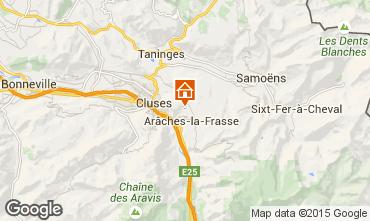 Map Les Carroz d'Araches Apartment 59375