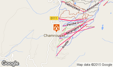 Map Chamrousse Apartment 60686