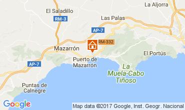 Map Puerto de Mazarrón Apartment 112638