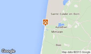 Map Mimizan Apartment 91109