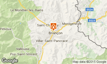 Map Briançon Apartment 60398