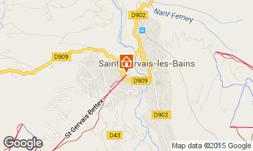 Map Saint Gervais Mont-Blanc Apartment 59536
