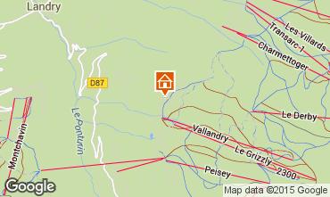 Map Peisey-Vallandry Chalet 61935