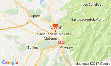 Map Grenoble Self-catering property 16078